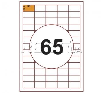 Этикетка A4 - 65 штук на листе 38x21,2 (100 листов) - Этикетка A4 - 65 штук на листе 38x21,2 (100 листов)