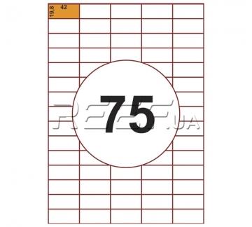 Этикетка A4 - 75 штук на листе 42x19,8 (100 листов) - Этикетка A4 - 75 штук на листе 42x19,8 (100 листов)