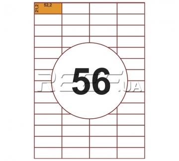Этикетка A4 - 56 штук на листе 52,2x21,2 (100 листов) - Этикетка A4 - 56 штук на листе 52,2x21,2 (100 листов)