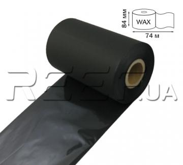 Риббон Wax RF12 84 мм x 74 м (дляZebra2844) - 1
