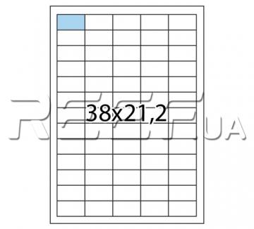 Этикетка A4 - 65 штук на листе 38x21,2 (100 листов) скруглённая - 1