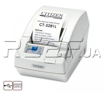 Принтер этикеток и чеков Citizen CT-S281L (CTS281UBEWHPLM1) - 1