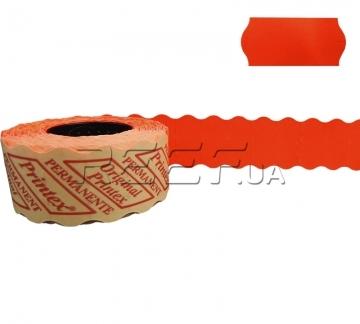 Этикет-лента 26x12 фигурная красная Printex - Этикет-лента 26x12 фигурная красная Printex