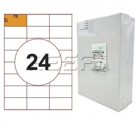 Этикетка A4 - 24 штуки на листе 70x37 (500 листов). Фото Этикетка A4 - 24 штуки на листе 70x37 (500 листов)