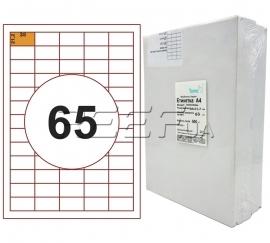 Этикетка A4 - 65 штук на листе 38x21,2 (500 листов)