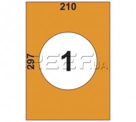 Этикетка A4 - 1 штука на листе 210x297 (100 листов)