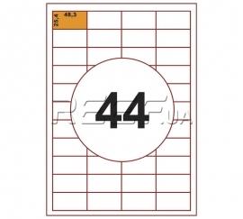 Этикетка A4 - 44 штуки на листе 48,3x25,4 (100 листов)