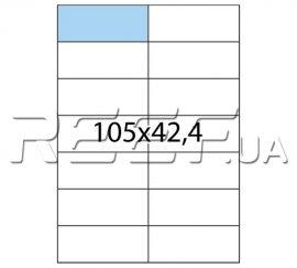 Этикетка A4 - 14 штук на листе 105x42,4 (100 листов). Фото 1