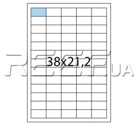 Этикетка A4 - 65 штук на листе 38x21,2 (100 листов) скруглённая. Фото 1