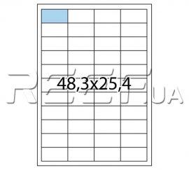 Этикетка A4 - 44 штуки на листе 48,3x25,4 (100 листов). Фото 1