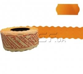 Этикет-лента 26x12 фигурная оранжевая Printex