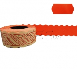 Этикет-лента 26x12 фигурная красная Printex