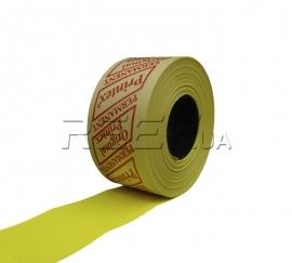 Этикет-лента 29x28 прямоугольная лимонная Printex. Фото Этикет-лента 29x28 прямоугольная лимонная Printex