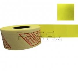 Этикет-лента 29x28 прямоугольная лимонная Printex