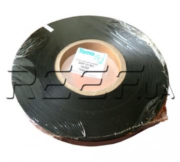 Сатиновая лента двухсторонняя SRF101BD 25 мм x 200 м (чёрная) Премиум - 1