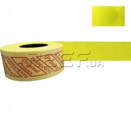 Этикет-лента 26x16 прямоугольная лимонная Printex